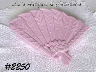 McCOY POTTERY -- VINTAGE PINK FAN SHAPE WALL POCKET