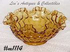 FENTON -- RUFFLED EDGE BOWL (LIGHT AMBER COLOR)