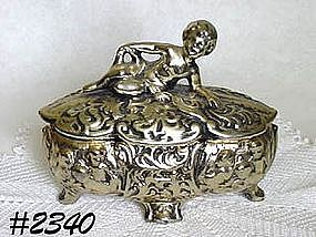 McCOY POTTERY -- COVERED CANDY DISH (ANTIQUA LINE)