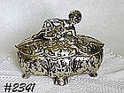 McCOY POTTERY -- ANTIQUA COVERED CANDY DISH