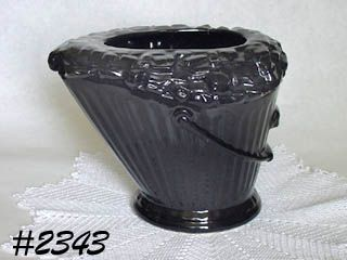McCOY POTTERY -- COAL BUCKET COOKIE JAR (BOTTOM ONLY)