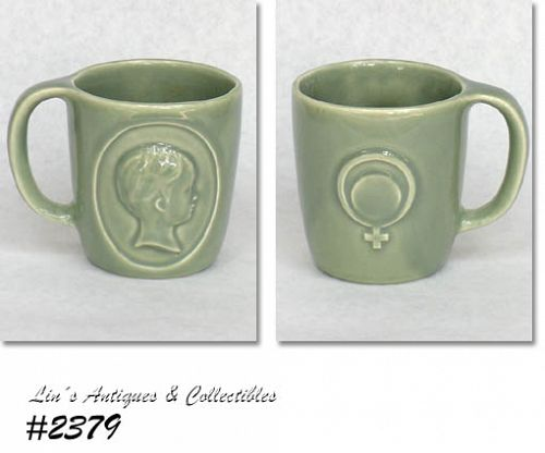 McCOY POTTERY VINTAGE RHO-GAM ADVERTISING MUG