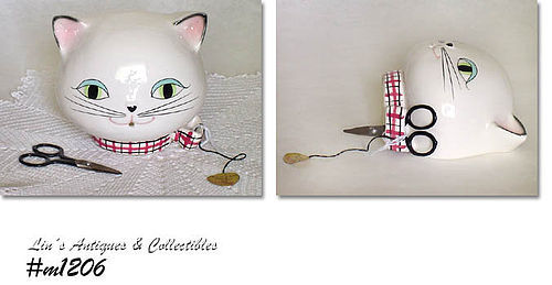 HOLT HOWARD VINTAGE COZY KITTEN STRING HOLDER MINT IN BOX