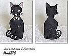 LEFTON -- BLACK SPAGHETTI CAT BANK