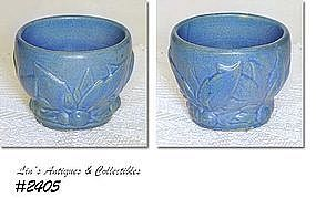 McCOY POTTERY -- LEAVES AND BERRIES JARDINIERE (BLUE)