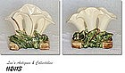 McCOY POTTERY -- TRIPLE CALLA LILY VASE (WHITE)