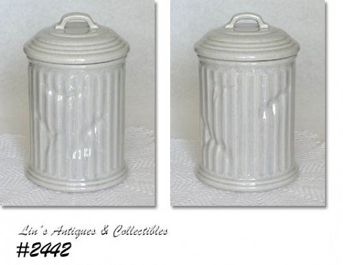 "McCOY POTTERY -- ""GARBAGE CAN"" COOKIE JAR"