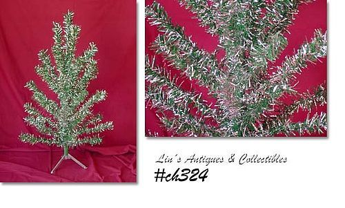 3 FT. TABLE TOP TREE -- GREEN AND SILVER