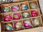 1 DOZEN VINTAGE POLAND GLASS CHRISTMAS ORNAMENTS