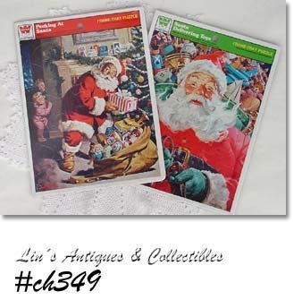 VINTAGE WHITMAN SANTA PUZZLES DATED 1979