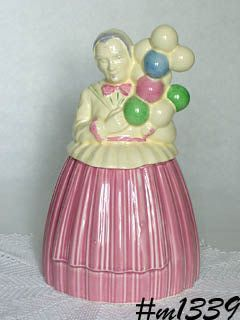 BALLOON LADY VINTAGE COOKIE JAR BY POTTERY GUILD OF AMERICA
