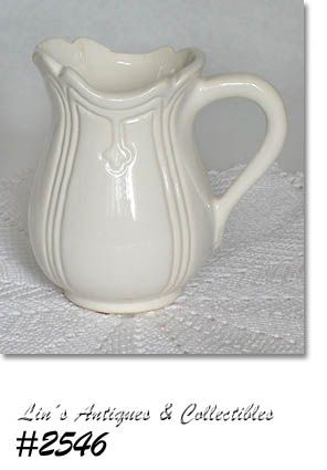 McCOY POTTERY GRAND VICTORIAN CREAMER OR SMALL PITCHER