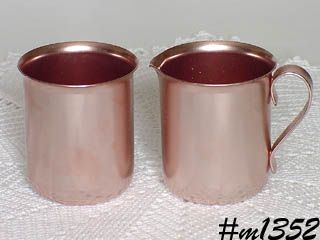 ALUMINUMWARE -- VINTAGE COLOR CRAFT CREAMER AND SUGAR