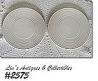 McCOY POTTERY -- PAIR OF TRIVETS (MATTE WHITE)