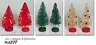 VINTAGE RED, GREEN, AND WHITE BRUSH SMALL SIZE CHRISTMAS TREES