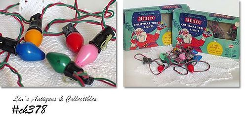 2 BOXED SETS OF AMICO VINTAGE CHRISTMAS TREE LIGHTS