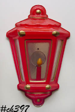 LARGE VINTAGE CHRISTMAS WALL LANTERN WITH HALO BY NOMA LITES