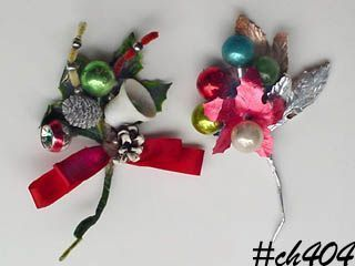 TWO VINTAGE CHRISTMAS CORSAGES!