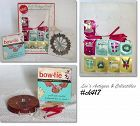 VINTAGE GIFT PACKAGE CARDS, PACKAGE DECORATIONS, AND A BOW MAKER!