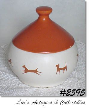 McCOY POTTERY VINTAGE UPJOHN UNIPET TREAT BOWL