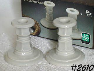 McCOY POTTERY -- PAIR OF CANDLEHOLDERS (MIB!!)
