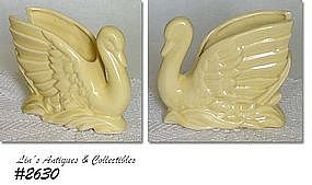 McCOY POTTERY -- YELLOW SWAN PLANTER (SMALL SIZE)