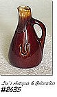 McCOY POTTERY -- VINEGAR CRUET (BROWN DRIP)