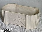 McCOY POTTERY -- FERN DISH (WHITE)