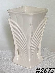 McCOY POTTERY -- ART DECO VASE (WHITE)