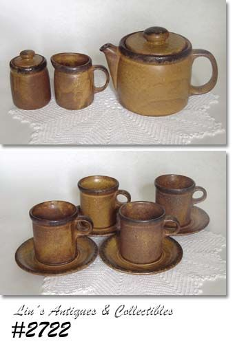 McCOY POTTERY -- CANYON TEA SERVICE