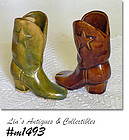 UHL POTTERY -- VINTAGE MINI COWBOY BOOT (TWO AVAILABLE)