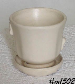 SHAWNEE POTTERY  MATTE WHITE 3 5/8 INCHES TALL FLOWERPOT