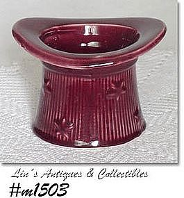 SHAWNEE -- STARS AND STRIPES HAT PLANTER (BURGUNDY)