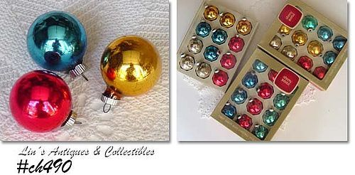 LOT OF 3 DOZEN VINTAGE SHINY BRITE ORNAMENTS
