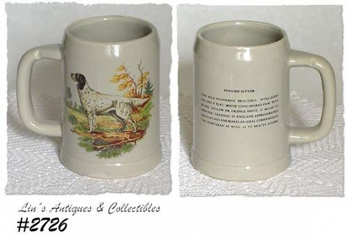McCOY POTTERY -- ENGLISH SETTER STEIN
