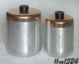 ALUMINUMWARE -- COFFEE AND TEA CANISTERS