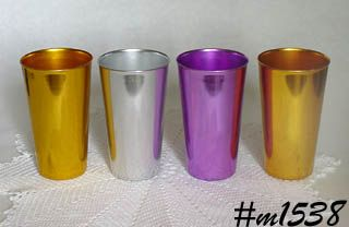 ALUMINUMWARE -- 4 TALLER SIZE VINTAGE BASCAL TUMBLERS