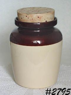 McCOY POTTERY CORK LOOK LID VINTAGE COOKIE JAR