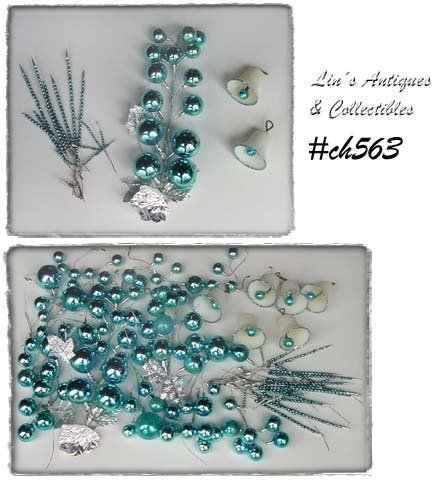 ICE BLUE ORNAMENTS GLASS PICKS AND MORE FOR CRAFTING OR DECORATING