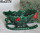 VINTAGE LEFTON SLEIGH PLANTER IN ORIGINAL BOX