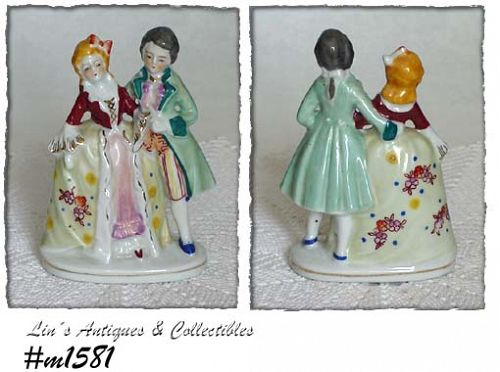 OCCUPIED JAPAN -- COLONIAL COUPLE FIGURINE