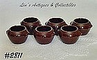 McCOY POTTERY -- 6 SMALL BOWLS FOR HEINZ