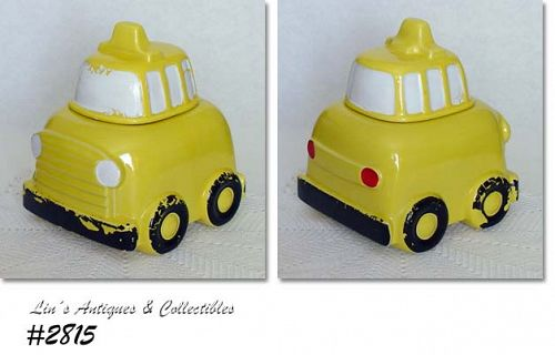"McCOY POTTERY -- ""BUS"" COOKIE JAR"