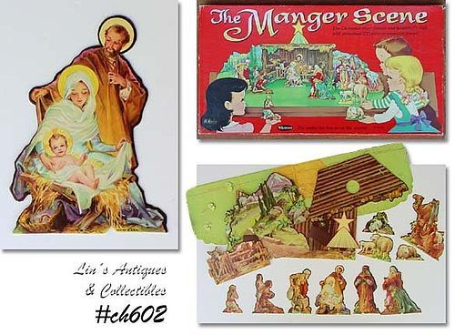 VINTAGE 1959 THE MANGER SCENE MADE BY WHITMAN