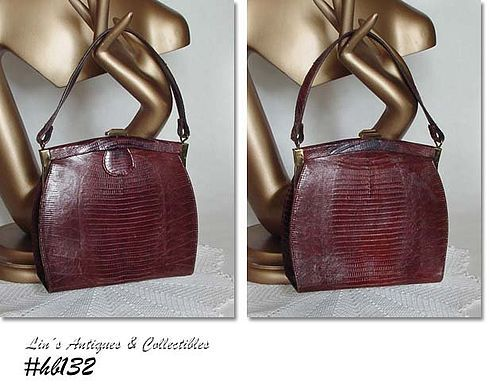 BROWN LIZARD HANDBAG