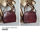 BROWN LIZARD VINTAGE HANDBAG