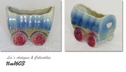 SHAWNEE POTTERY -- LITTLE COVERED WAGON PLANTER