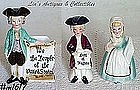 ENESCO -- COLONIAL MAN NAPKIN HOLDER AND SHAKER SET