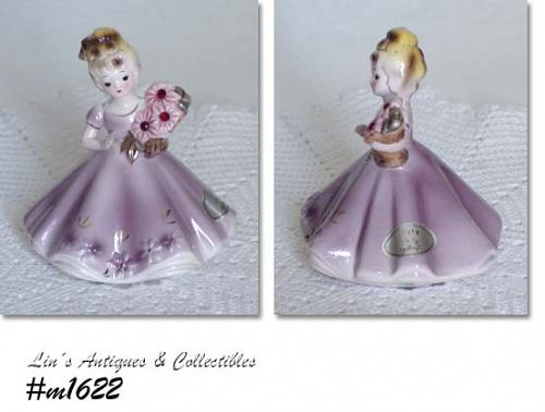 VINTAGE JOSEF ORIGINAL JULY BIRTHDAY GIRL FIGURINE