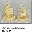SHAWNEE POTTERY -- SWAN AND FISH FLOWER FROGS